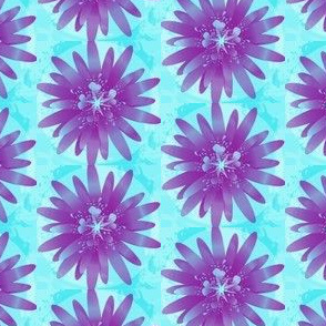 Purple & Teal Floral