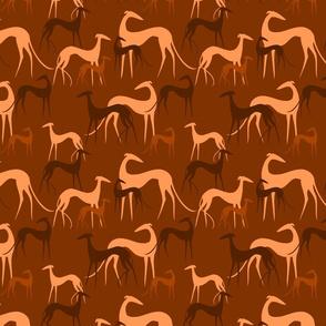sighthounds brown orange