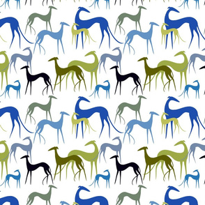 sighthounds green-blue