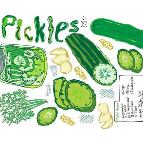 Pickles Pickles Pickles Tea Towel
