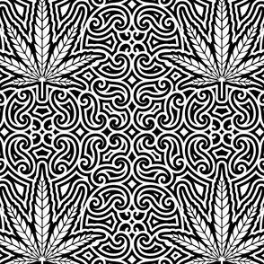 Sweet Leaf Black and White- medium