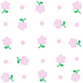 Pink rose & polka dot.