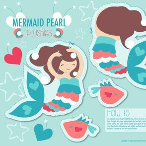 Mermaid Pearl Plum Plushie Cut and Sew Doll