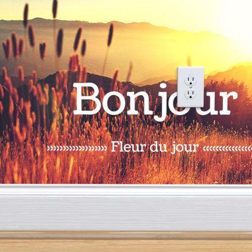 Wallpaper Bonjour Fleur Du Jour Pillow
