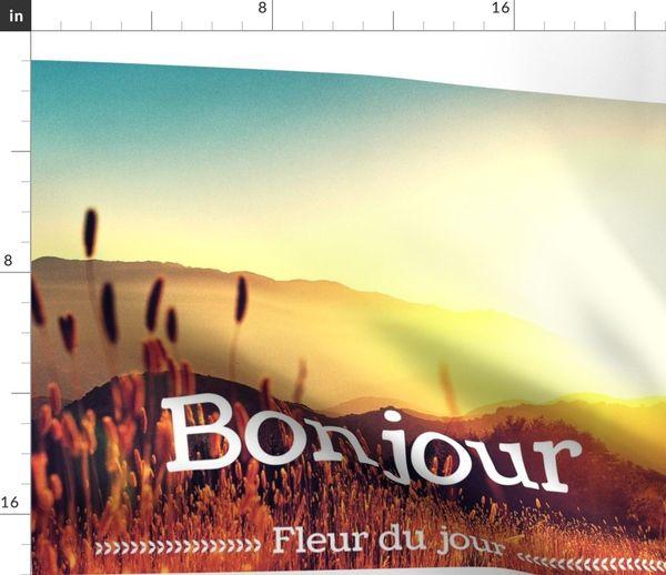 Fabric By The Yard Bonjour Fleur Du Jour Pillow