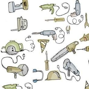 power tools watercolor