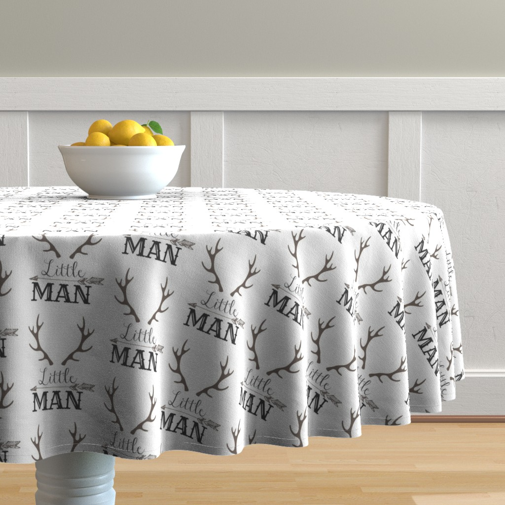 Malay Round Tablecloth featuring Little Man Arrow & Horns  by hudsondesigncompany