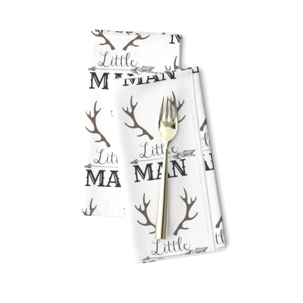 Amarela Dinner Napkins featuring Little Man Arrow & Horns  by hudsondesigncompany