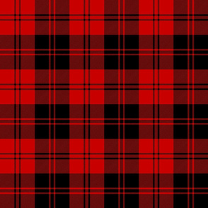 Erskine black and red tartan, 6""