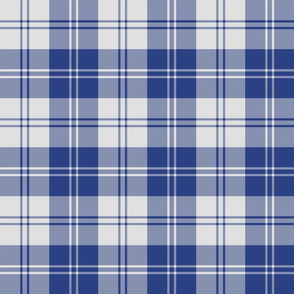 Erskine dress slate-periwinkle blue tartan, 6""