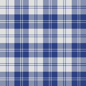 Erskine dress slate-periwinkle blue tartan