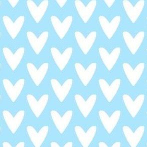 blue white hearts
