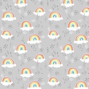 rainbows on grey - small