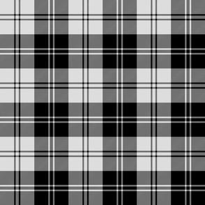 "Erskine or Ramsay tartan - 6"" black and pale grey"
