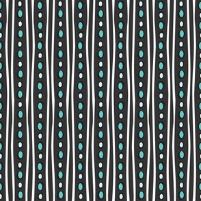Midnight Stripe (Dark Teal)