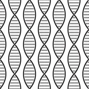 DNA Strands (White and Black)