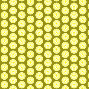 yellows pentacle small repeat