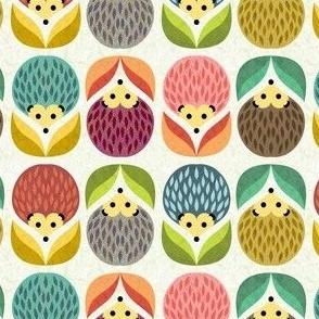 hedgehogs flowers