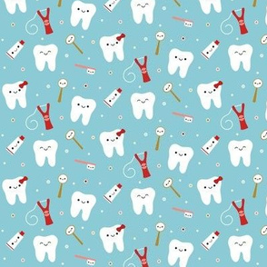 Happy Teeth & Friends - Light Teal