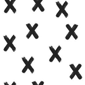 Black and White X's White