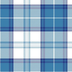 Menzies blue dress tartan, 6""