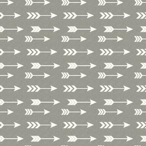 Gray and White Arrows Mini