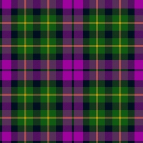 "Abercrombie tartan or Wilsons #64, 9"" purple and green"