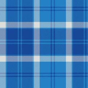 "Bannockbane trade tartan, 6"" blue"