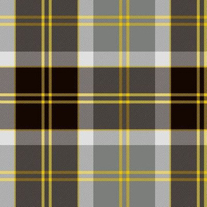 "Bannockbane trade tartan, 6"" grey and black"