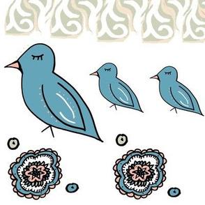 Boho Dream Birds white