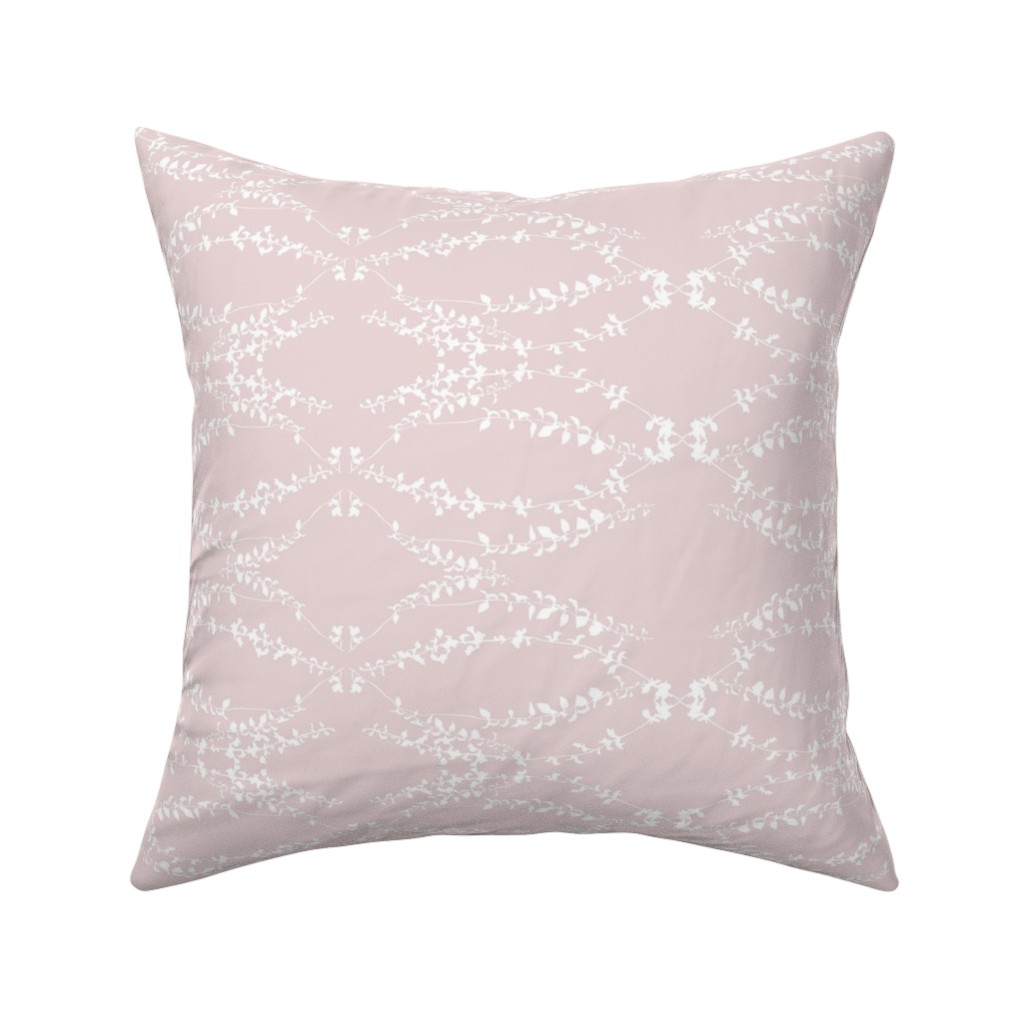 Catalan Throw Pillow featuring Vernazza pink by arboreal