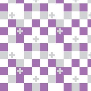 SquareCross Lilac1 Reversed