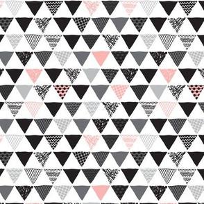 Geometric tribal aztec triangle pink modern patterns XS