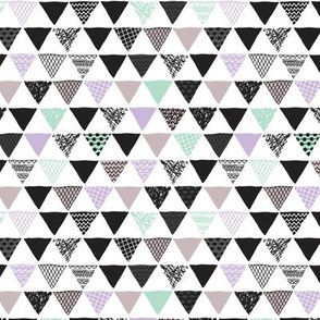Geometric tribal aztec triangle mint gray and lavender violet modern patterns