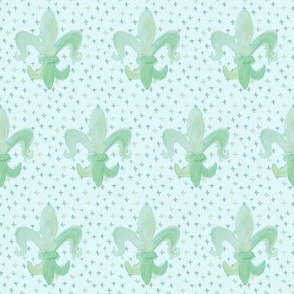 Fleur De Lis Baby Small with dots