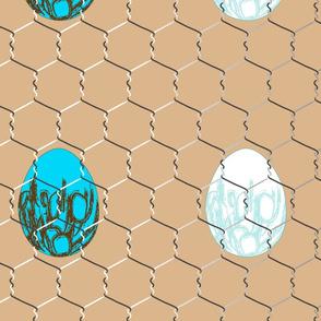 eggs on beige