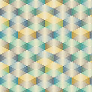 Crossing lines (yellow and blue)