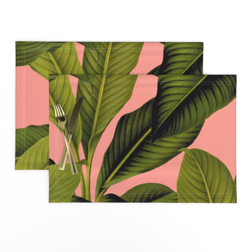 Lamona Cloth Placemats featuring Palm In Palm ~ Duchess by peacoquettedesigns