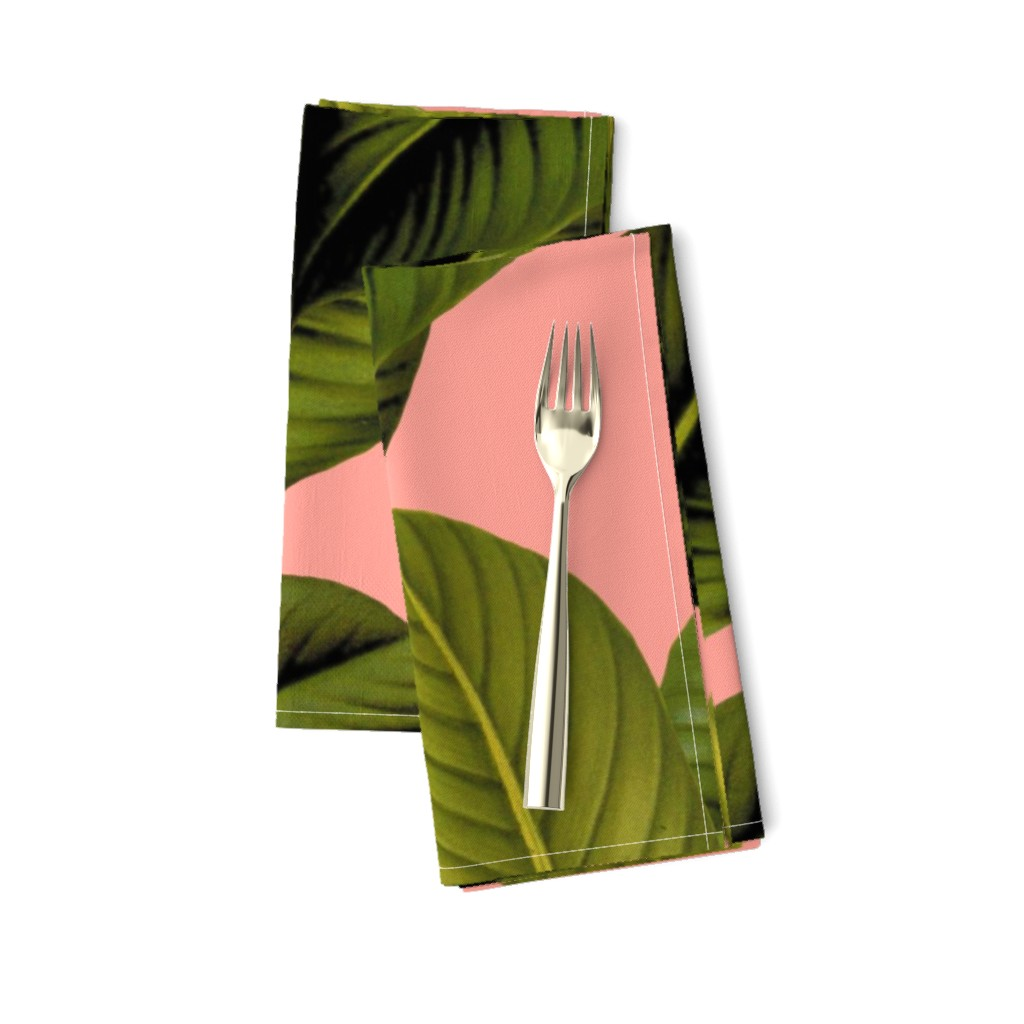 Amarela Dinner Napkins featuring Palm In Palm ~ Duchess by peacoquettedesigns