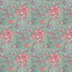 Scattered Pink Blossom on a Garden Carpet