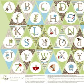 Woodland Alphabet Bunting Kit