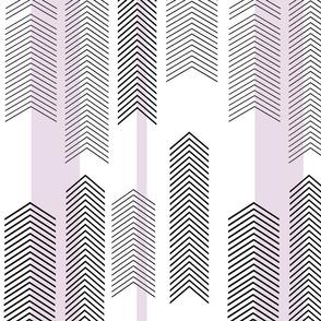 chevron stripe in lavender