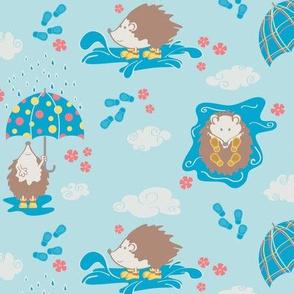 Hedgehogs Rain Party