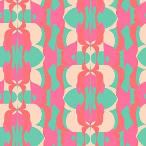 1970 Pink and Teal