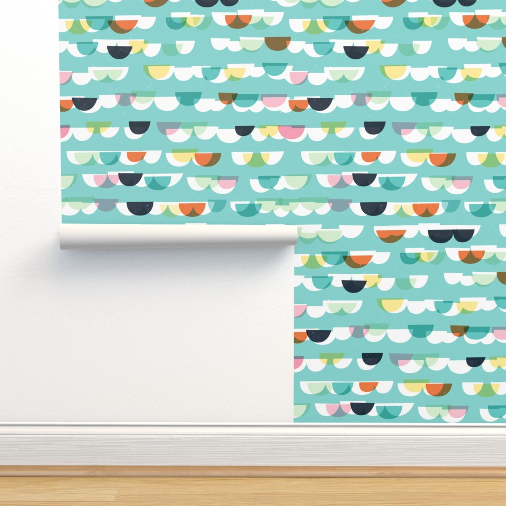 Isobar Durable Wallpaper featuring Waves and Boats M+M Aqua by Friztin by friztin