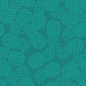 Teal pineapple toss