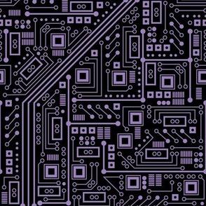 Evil Robot Circuit Board (Purple)