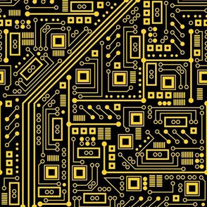 Evil Robot Circuit Board (Yellow)