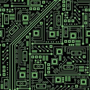 Evil Robo Circuit Board (Green)