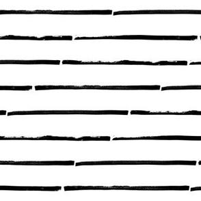 Stripes horizontal – black white